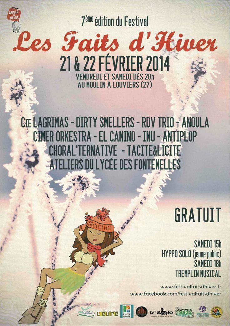 Ce soir au Moulin de #Louviers, première partie du festival des Faits d'Hiver ! Entrée libre et gratuite !