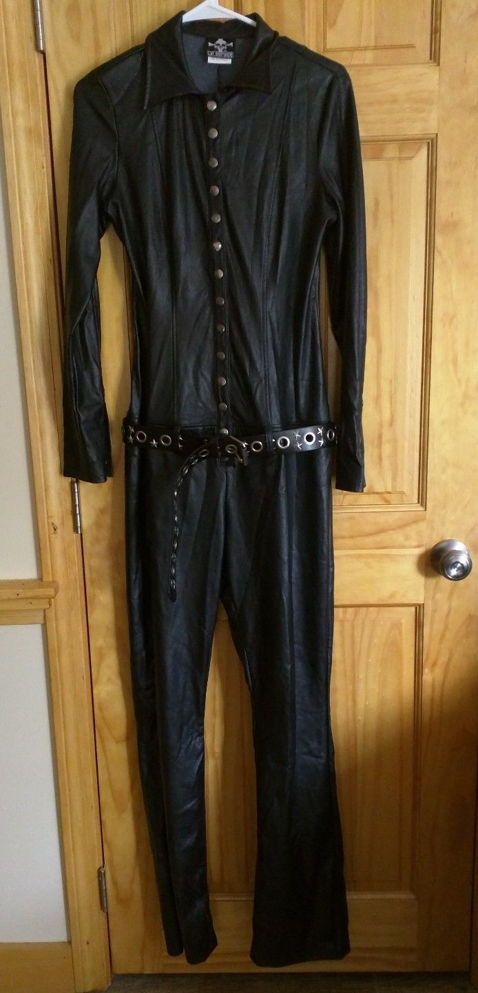 LIP SERVICE (Hot Topic) Hellbent For Leather (?) jumpsuit #38-470-HT