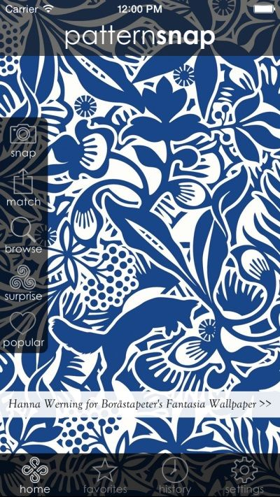 19.12.14 - Today's Featured pattern is Hanna Werning for Boråstapeter's 'Fantasia' Wallpaper