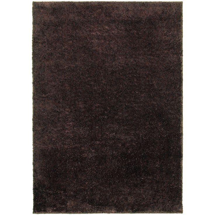 Impressions 84500 Brown Shag Rug by Oriental Weavers