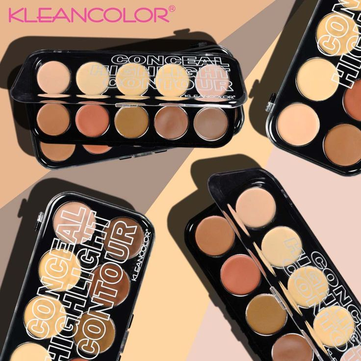 Want to conceal, highlight and contour with one all you could ever want palette?  The 10 creamy colors of the Conceal, Highlight and Contour Kit (CC2121) will transform your skin with all you need to camouflage, glow and define.   #kleancolor #conceal #concealer #highlight #highlighter #contour #contouring #creamy #disguise #glow #define #allinone #makeup #cosmetics #beauty