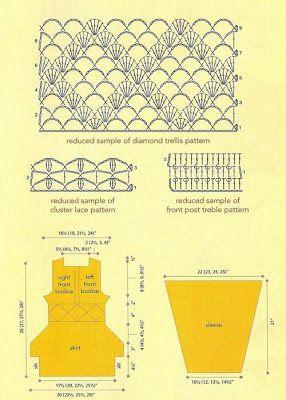 COMO HACER VESTIDOS A CROCHET CON PATRONES Y ESQUEMAS | Patrones Crochet, Manualidades y Reciclado