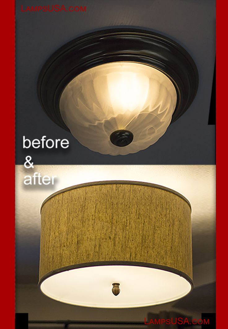 How to install modern ceiling light cover conversion kits - Diy ceiling light cover ...