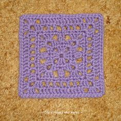 ~ Dly's Hooks and Yarns ~: ~ lavender love - a square for SIBOL ~