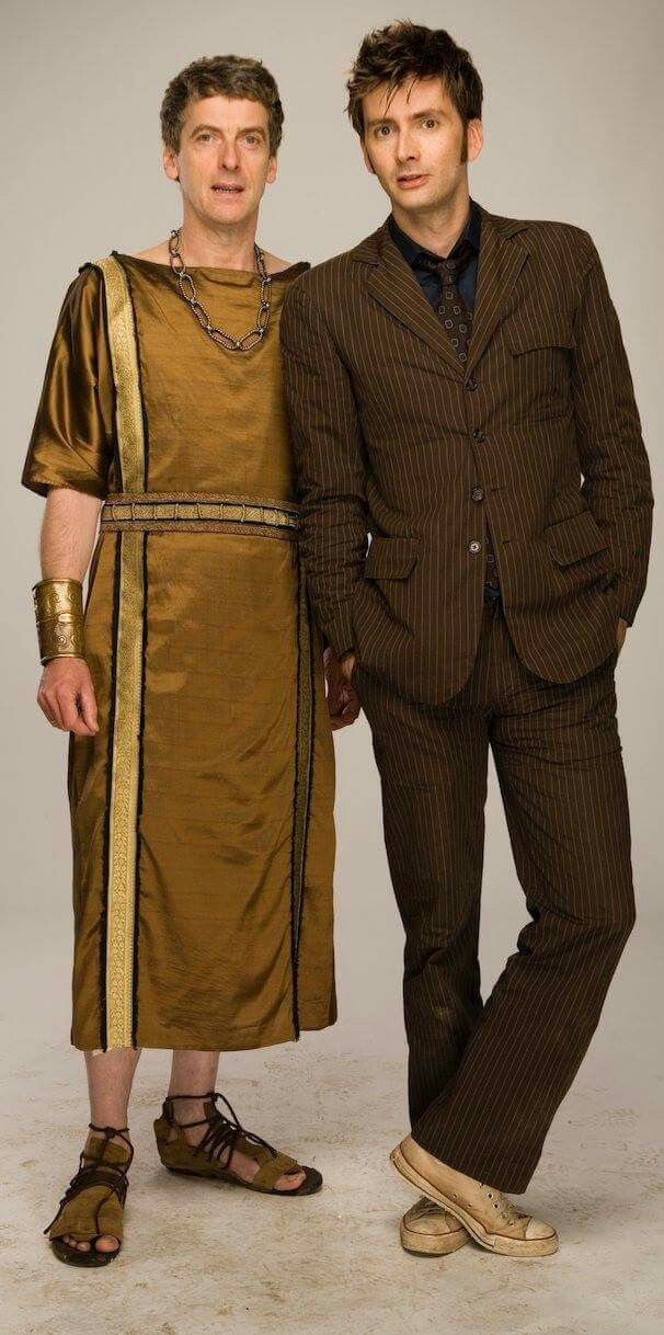 David Tenant and Peter Capaldi from the Fires of Pompeii. Does anyone need a Doctor?