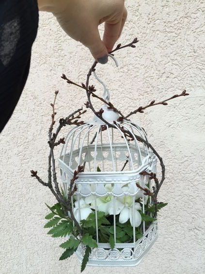 Floral arrangement #birdcage