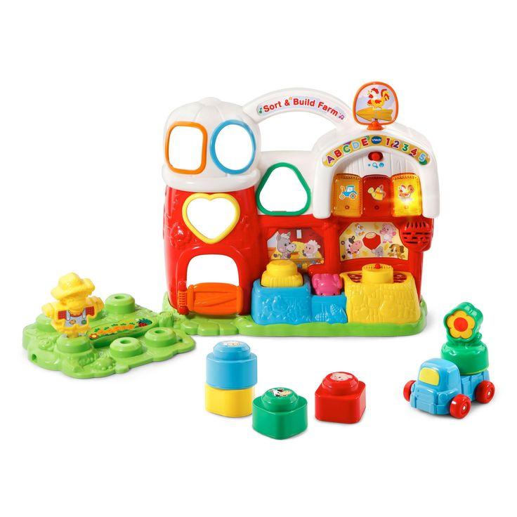 VTech Sort & Build Farm, Eye and Hand Coordination Toy