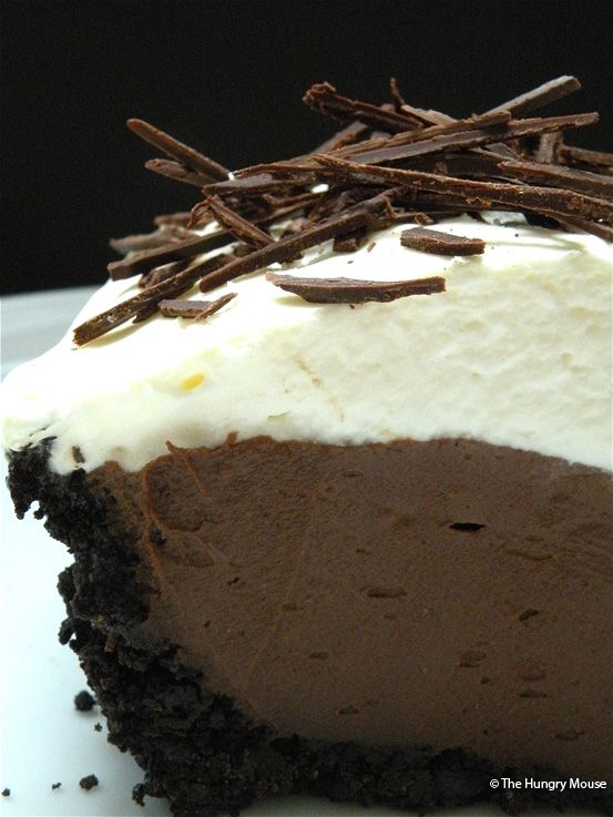 The best chocolate cream pie   The Hungry Mouse   just look at the pictures, how could you not make this?