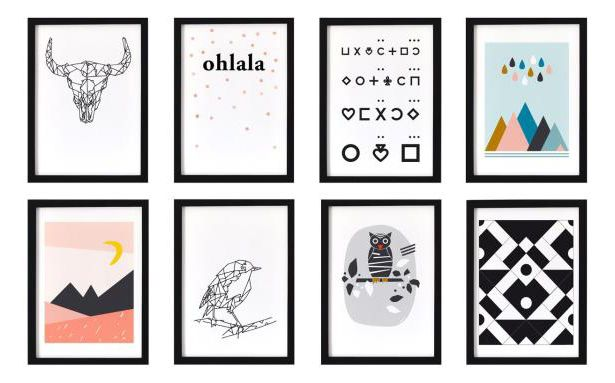 10 best tableau scandinave images on pinterest geometric for Tableau style scandinave