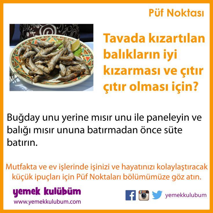 YEMEK YAPMANIN PÜF NOKTALARI : Tavada kızartılan balıklar nasıl çıtır çıtır olur? http://yemekkulubum.com/puf-noktasi-liste/yemek-hazirlama-ile-ilgili-puf-noktalari  #yemek #balık #yemekhazırlama #kızartma #yemekyapma #balık kızartma #püfnoktası #püfnoktaları #pratikbilgiler #ipucu #ipuçları