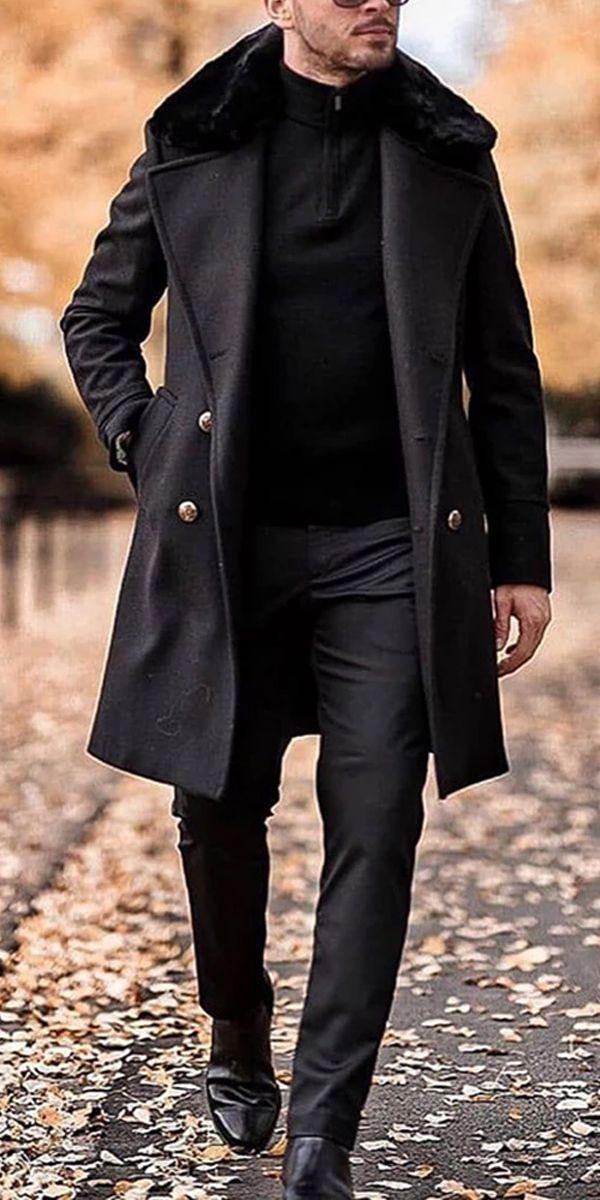 Jackets Men Fashion Mens Coat, Mens Long Black Winter Coats
