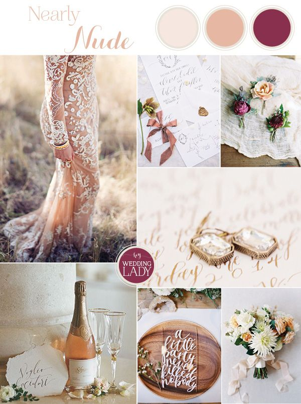 Nearly Nude - Neutral and Pomegranate Wedding Inspiration