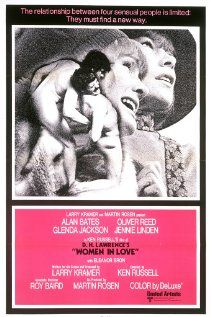 Women in Love (1969)  131 min  -  Drama | Romance  -   25 March 1970 (USA) The battle of the sexes and relationships among the elite of Britian's industrial Midlands in the 1920s... See full summary »  Director: Ken Russell Writers:  D.H. Lawrence (novel), Larry Kramer (written for the screen by)  Stars: Alan Bates, Oliver Reed and Glenda Jackson | See full cast and crew www.imdb.com