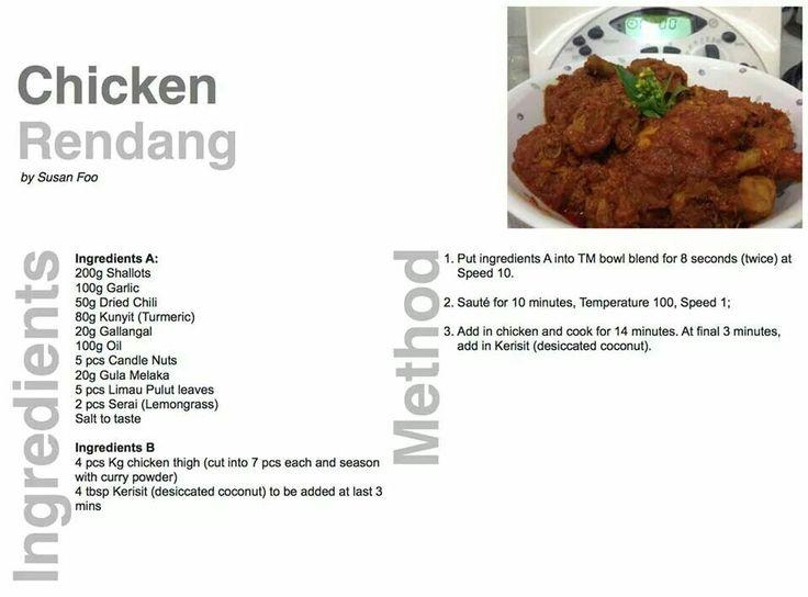 Dry Chicken Rendang