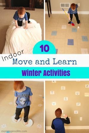 These active learning games bring the winter fun indoors where it's warm and give kids the chance to move while learning! Play based learning for preschool.