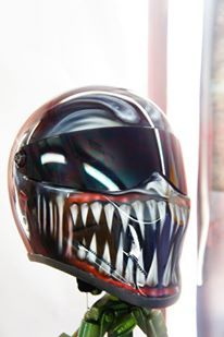 Blaze Artworks Custom Motorcycle Helmet 75