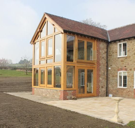 Two Storey Glazed Oak Framed Extension