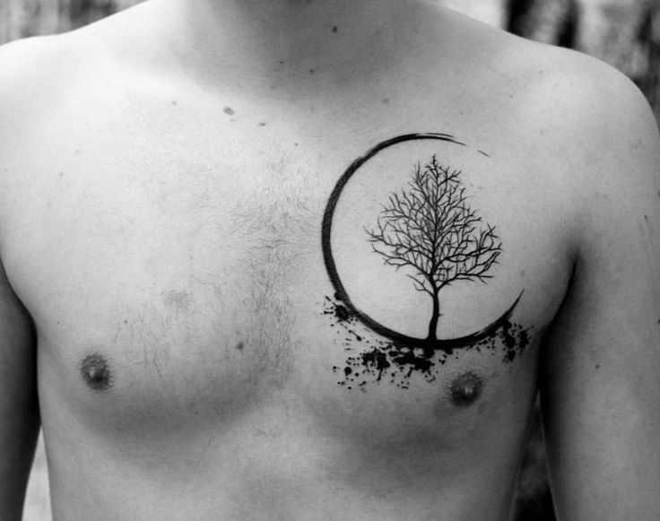 Tree chest tattoo by marian.m.m.  It takes a lot of guts and determination to get your chest done. Take a look at some of the most mind blowing chest tattoos ever done. Enjoy!