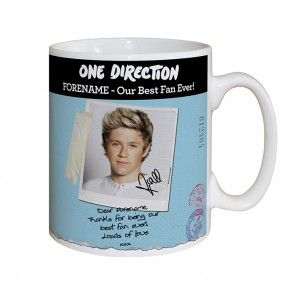 Niall Horan mug personalised with your name