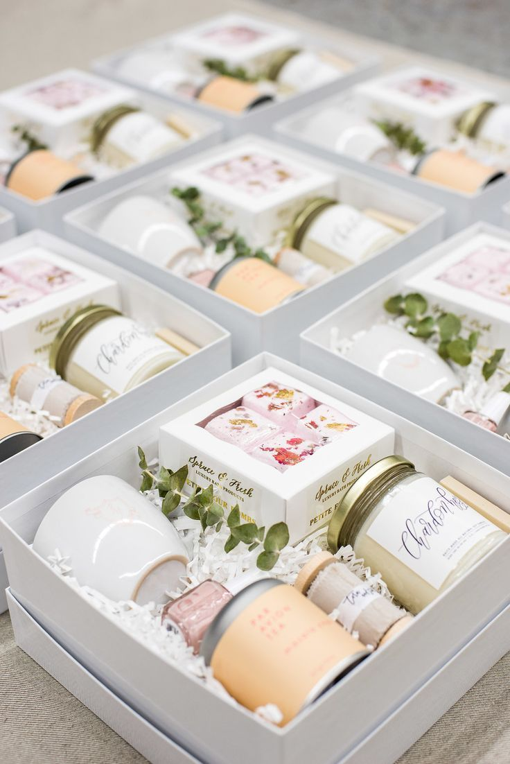 Spa Themed Curated Client Gift Boxes For Branding Web Design