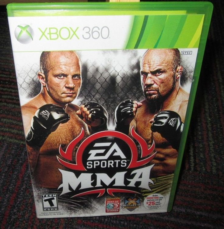 EA SPORTS MMA GAME FOR MICROSOFT XBOX 360, CASE, GAME & BOOKLET, RANDY COUTURE
