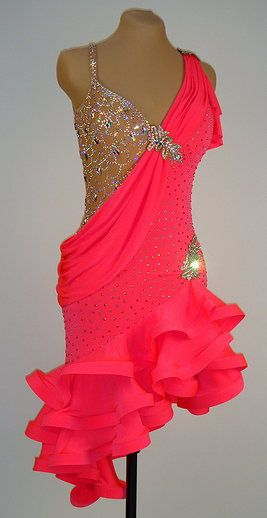 I reeeeeallly love the silver piece on the upper bodice. Latin and Rhythm Ballroom Dresses