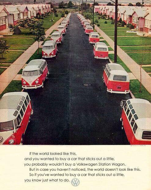 Volkswagen vintage ad