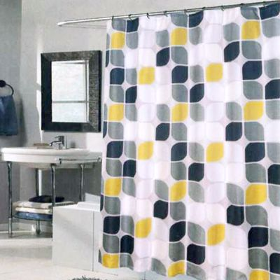 Metro Extra Long Shower Curtain Multi