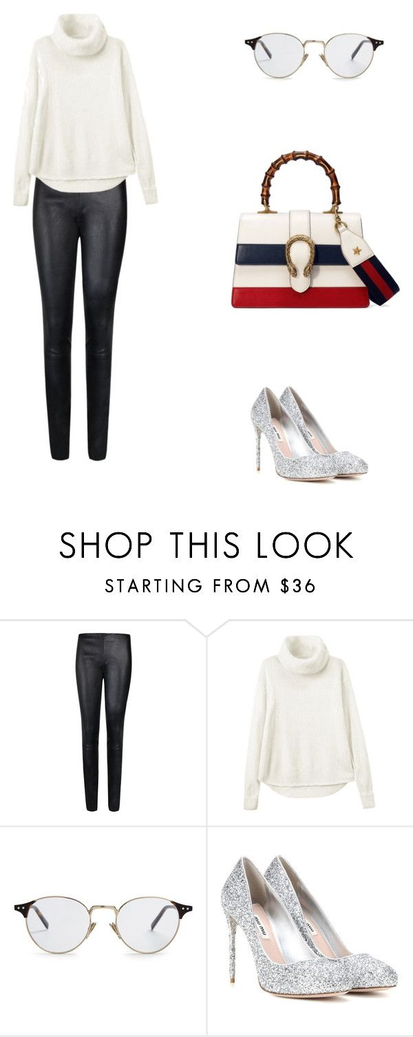 """Airport in St. Barth."" by cmmpany ❤ liked on Polyvore featuring By Malene Birger, CÉLINE, Miu Miu and Gucci"