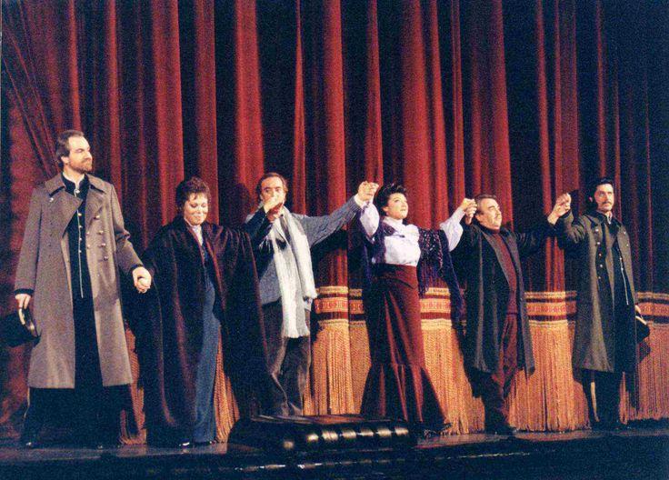 LA BOHEME en el Gran Teatro del Liceo. con Mirella Freni, Jaume Aragall, Vicente Sardinero y Nicolai Ghiaurov, entre otros.