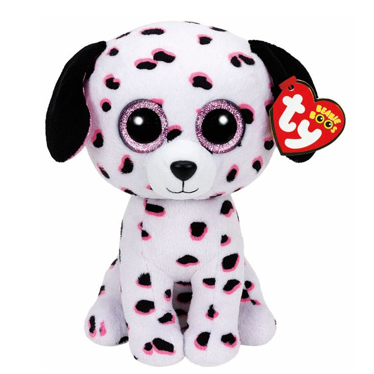 "<P>The firehouse is where I stay, the siren sounds, no time for play! <P><P>Your favorite cuddly friend in a bigger size. Georgia the Dalmatian is a plush Dalmatian with pink and black spots and big glittery pink eyes. Part of the Ty Beanie Boos collection. Collect them all! </P><UL><LI>Birthday: March 14th <LI>12""H <LI>Plush</LI></UL>"