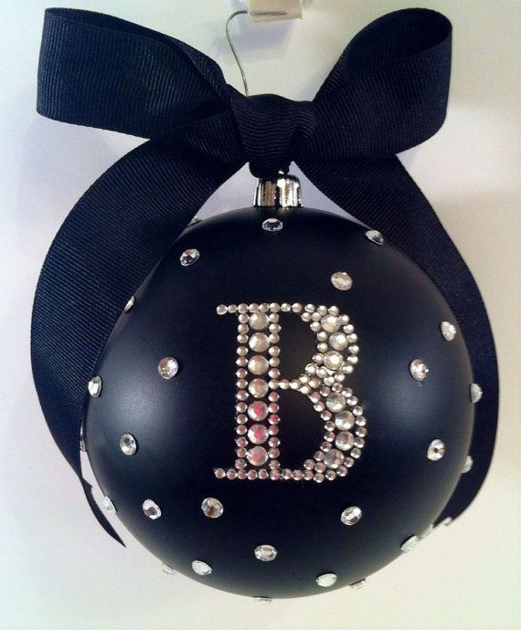 PERSONALIZED 4 Matte Bling Rhinestone by JBirdOranaments on Etsy, $17.00