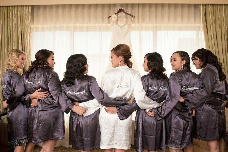 bride and bridesmaid robes my wedding bliss