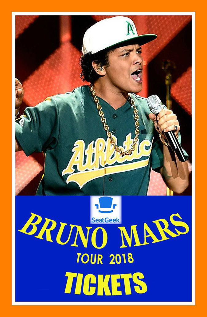 Bruno Mars Tour 2020 Dates BRUNO MARS   The easiest way to buy concert tickets (seller