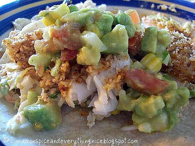 Fish Tacos with Pico De Gallo and Coconut Cole Slaw | Cinnamon Spice ...