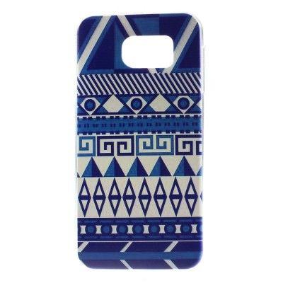 Coque Samsung Galaxy S6 Aztèque Tribal Bleu