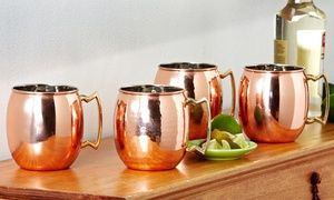 Groupon - Set of 2 Old Dutch 16 Oz. Hammered or Smooth Copper Moscow Mule Mugs in [missing {{location}} value]. Groupon deal price: $34.99