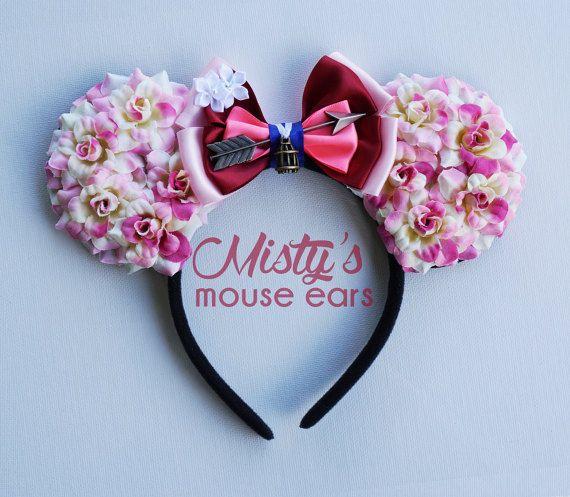 Rose Des Oreilles De Souris Oreilles Mickey Oreille Bandeau Minnie
