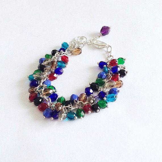 Colorful fire polished bracelet dark by LaPietraBluDiAvalon