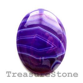 #Cabochon, agate (dyed), 30x40mm oval. #TreasureStone Beads Edmonton.