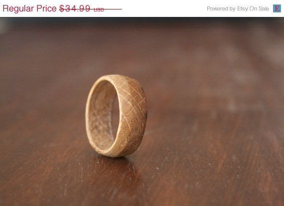 Wooden ring Jack Daniels Whiskey Barrel Ring by IndustrialEnvy