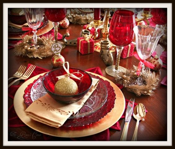 132 best Holiday Table Settings images on Pinterest