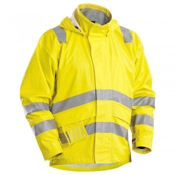 """Flammschutz Regenjacke Warnschutz """"4303"""" - BLAKLÄDER® #Blåkläder #regenjacke #regenkleidung #regenbekleidung"""
