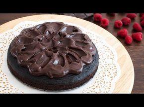 Torta loca.  Con ganache de chocolate. Receta fácil.
