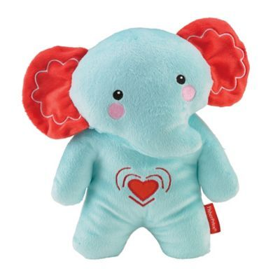 Fisher-Price® Calming Vibrations Cuddle Soother Elephant in Turquoise/Red - buybuyBaby.com