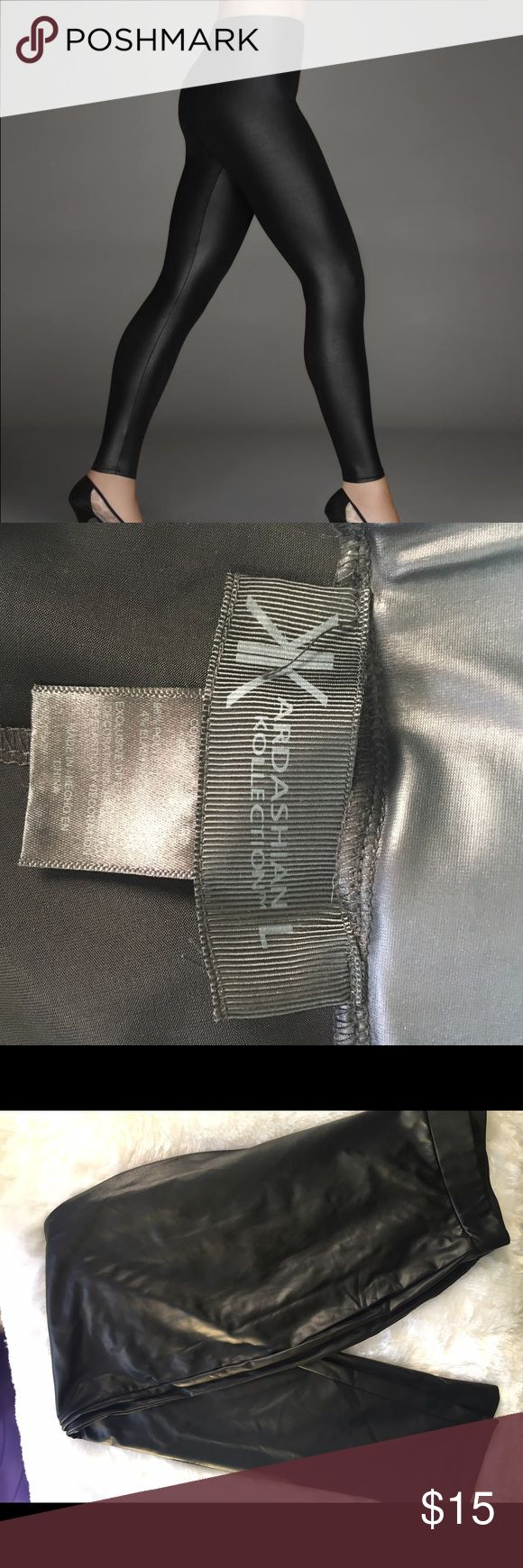 Kardashian Kollection Faux Leather Leggings Only worn once!!  Show Off Your Curves With The Kardashian Faux Leather Leggings Unleashing your inner diva is easier than ever with the Kardashian Kollection womens faux leather leggings in your closet. You don't have to be a Kardashian to enjoy these leggings. While they may look like leather, you benefit from the fact that they are a knit construction of polyester and elastane. Kardashian Kollection Pants Leggings
