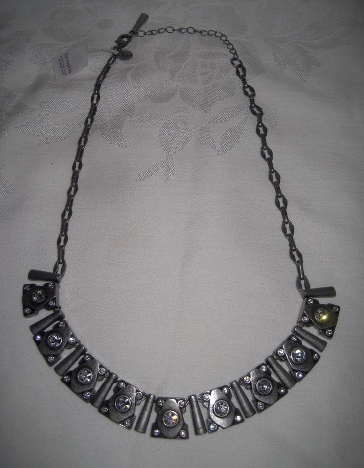 Lia Sophia MATRIX Necklace Bib Choker Pewter Antique Silver Tone Retired NWT #LiaSophia #Bib