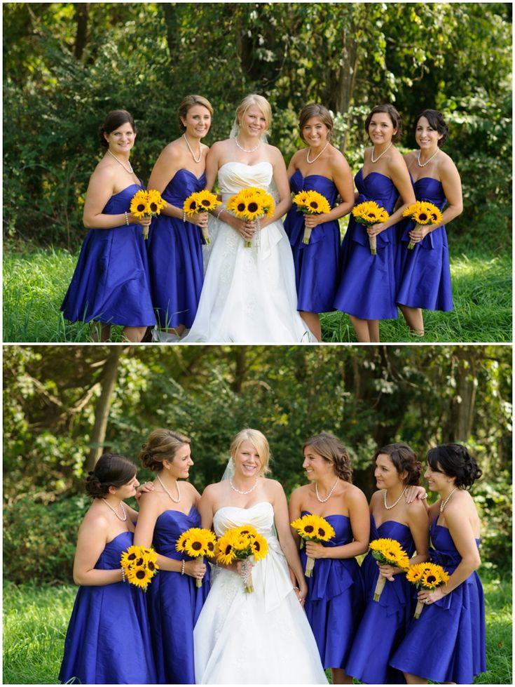 Steph nick destiny hill farm wedding pittsburgh for Sunflower dresses for wedding