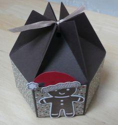 Kleine sechseckige Box mit Anleitung zum Nachbasteln