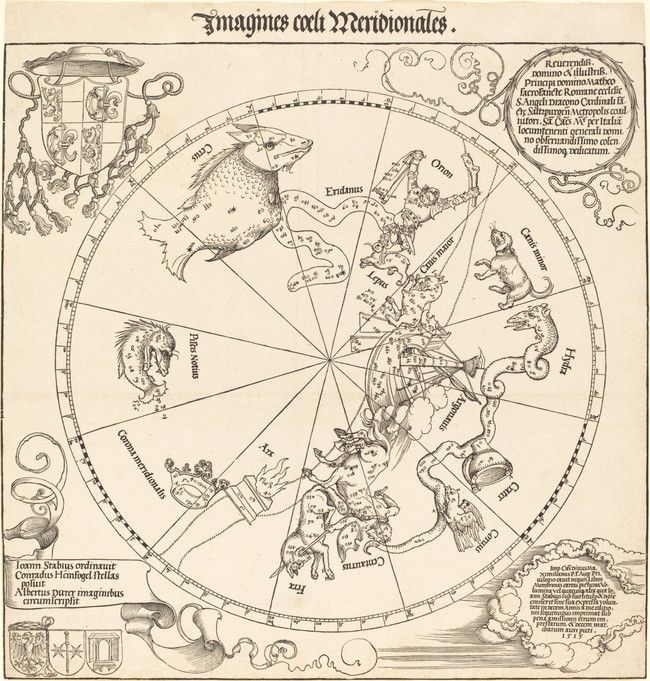 Maps can depict space, like this constellation map.
